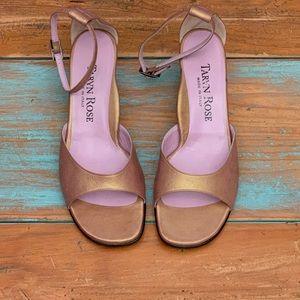 TARYN ROSE Matte Gold Sandal | Size 39 | Italy